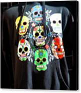 Skull T Shirts Day Of The Dead  Canvas Print