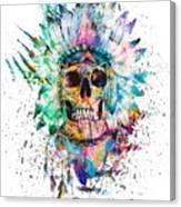 Skull - Wild Sprit Canvas Print