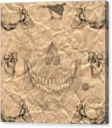 Skulls In Grunge Style Canvas Print