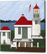 Skunk Bay Lighthouse Canvas Print