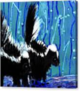 Skunks Canvas Print