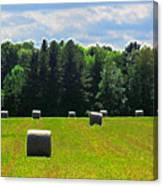 Sky Above The Hay Rolls Ae3 Canvas Print