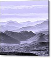 Sky Blue Hills Of The Tonto Canvas Print