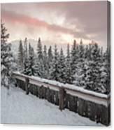 Sky Crack Over Tatra Mountains Canvas Print
