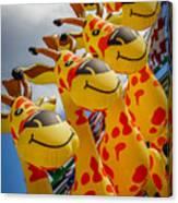 Sky Giraffes Canvas Print