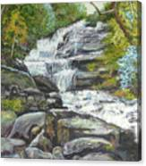 Sky Valley Waterfall Canvas Print