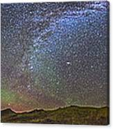 Skygazer Standing Under The Stars Canvas Print