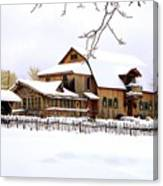 Skyland Farms In Winter Canvas Print