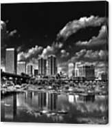 Skyline Along The River Canvas Print