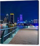skyline and river coast scenes in Jacksonville Florida Canvas Print