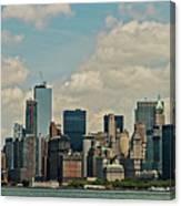 Skyline Of New York City - Lower Manhattan Canvas Print