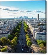 Skyline Of Paris, France Canvas Print