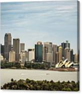 Skyline Of Sydney Downtown  Viewed From Taronga Hill, Australia Canvas Print