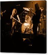 Skynyrd Sf 1975 #10 Crop 2 Enhanced In Amber Canvas Print
