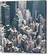 Skyscrapers View From Above Building 83641 3840x1200 Canvas Print