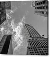 Skytops Manhattan Black And White Canvas Print