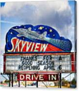 Skyview Drive-in Theater Canvas Print