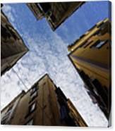 Skyward In Naples Italy - Spanish Quarters Take Three Canvas Print