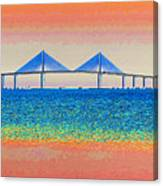 Skyway Morning Canvas Print