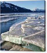 Slabs Of Ice Canvas Print