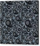 Slate Gray Paisley Design Canvas Print