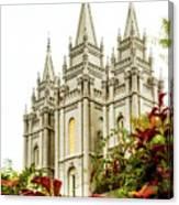 Slc Temple Angle Canvas Print