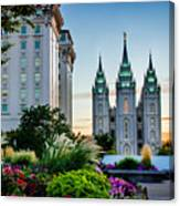 Slc Temple Js Building Canvas Print