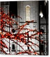 Slc Temple Red White N Black Canvas Print