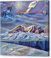 Sleep Crack Canvas Print