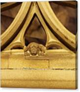 Sleeping Dog In Strasbourg Cathedral Canvas Print