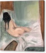 Sleeping In The Nude Canvas Print