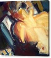 Sleeping Nude Canvas Print