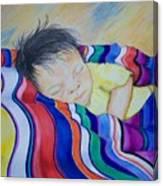 Sleeping On A Rainbow Canvas Print
