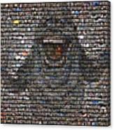 Slimer Mosaic Canvas Print