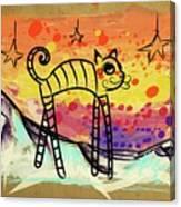 Slinky Cat Canvas Print