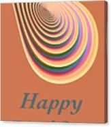 Slinky - Happy Birthday Card 2 Canvas Print