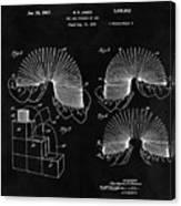 Slinky Patent Design  Canvas Print