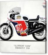 Slippery Sam Production Racer Canvas Print
