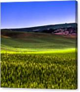 Sliver Of Sunlight On The Palouse Hills Canvas Print