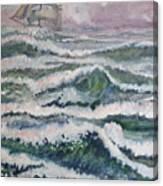 Sloop At War Canvas Print