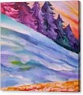 Slopes Canvas Print