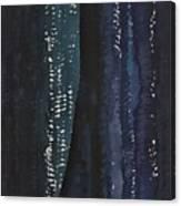Slot Canyon In Moonlight Original Painting Canvas Print