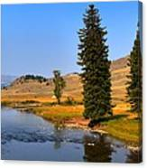 Slough Creek Afternoon Panrama Canvas Print