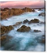 Slow Exposure Of A Kerry Sunset Ireland Canvas Print