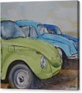 Slugbug Green Canvas Print