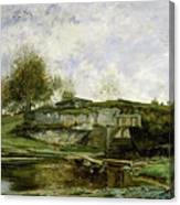 Sluice In The Optevoz Valley Canvas Print