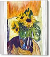 Slunecny-triptych Canvas Print
