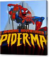 Spider Man Ride Sign.  Canvas Print