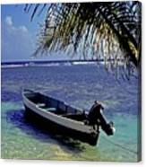 Small Boat Belize Canvas Print