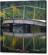 Small Bridge In Double Flowered Canvas Print